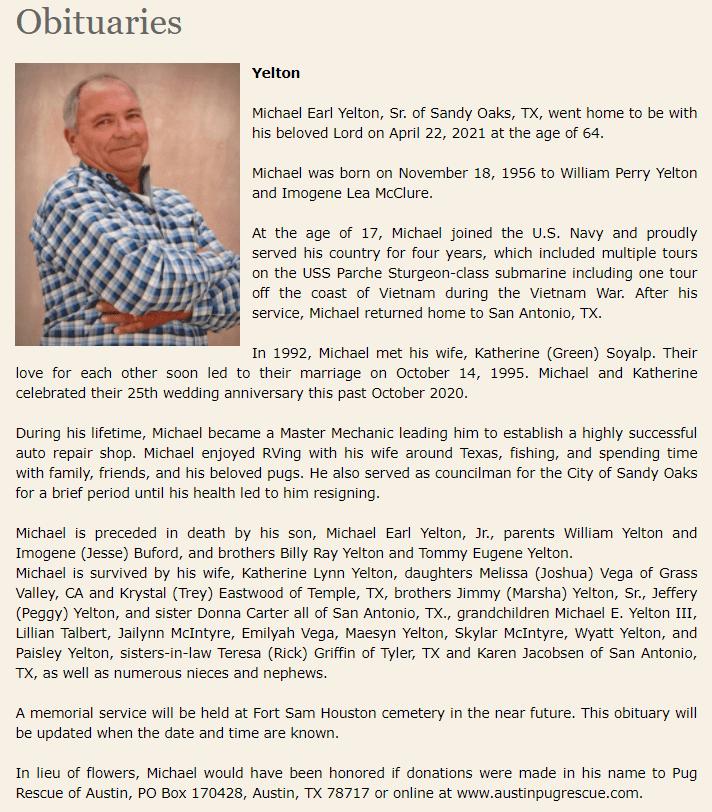 MYelton Obituary