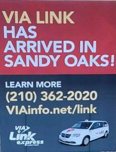 VIA Link sign